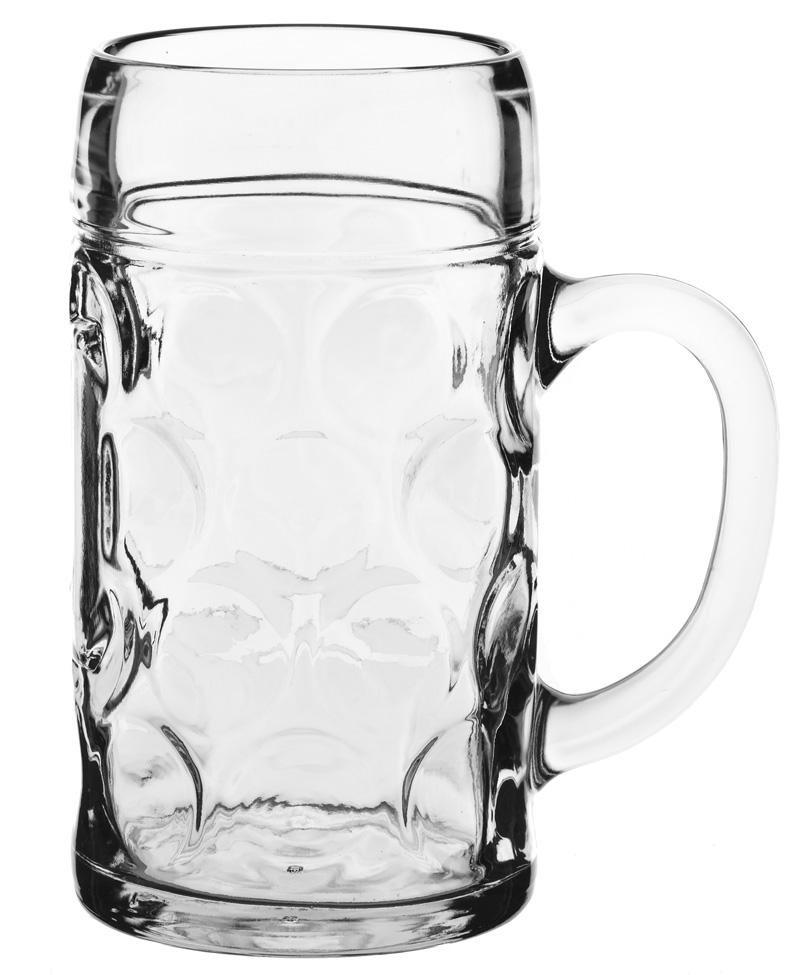 Ølkrus med hank 1 liter